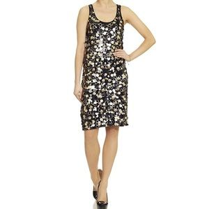 Michael Kors Gold & Black Shimmery Dress (L) ~ NWT